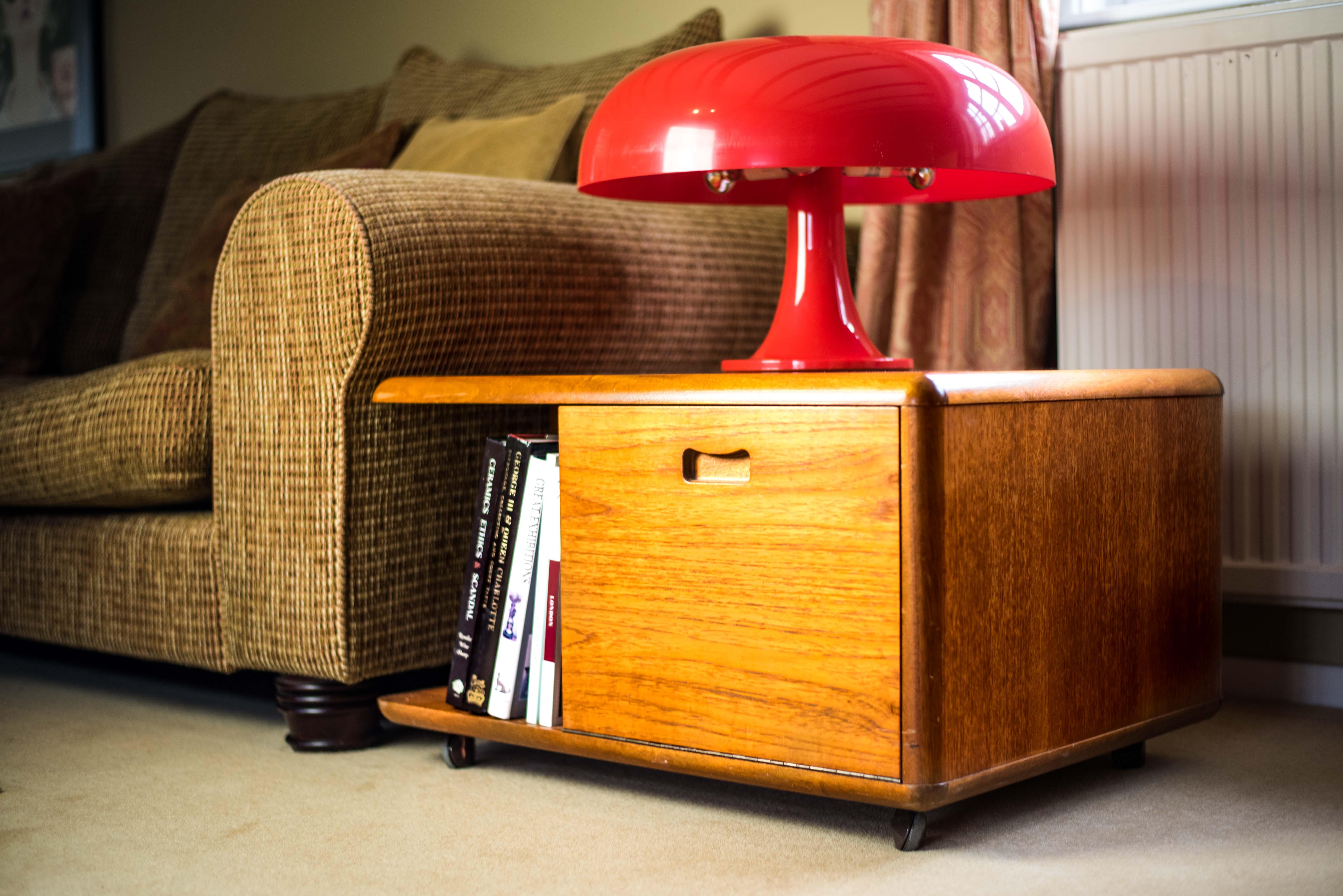 1970s Wooden Side Storage Cabinet 5
