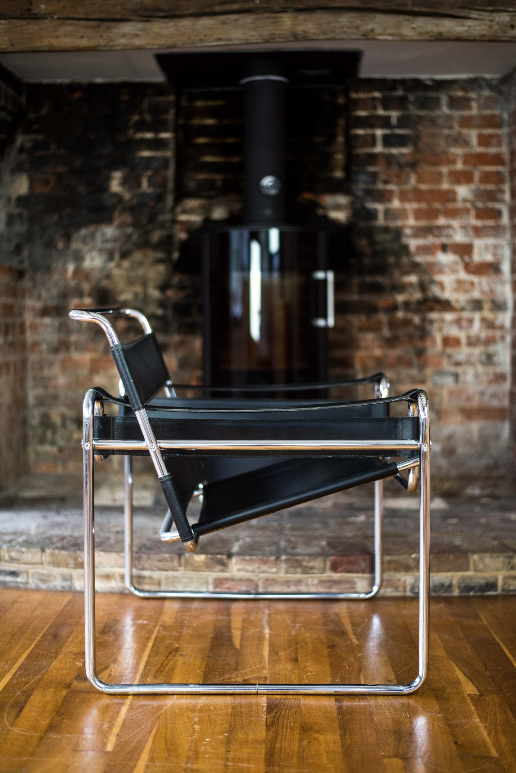 Wassily Chair after design by Marcel Breuer side