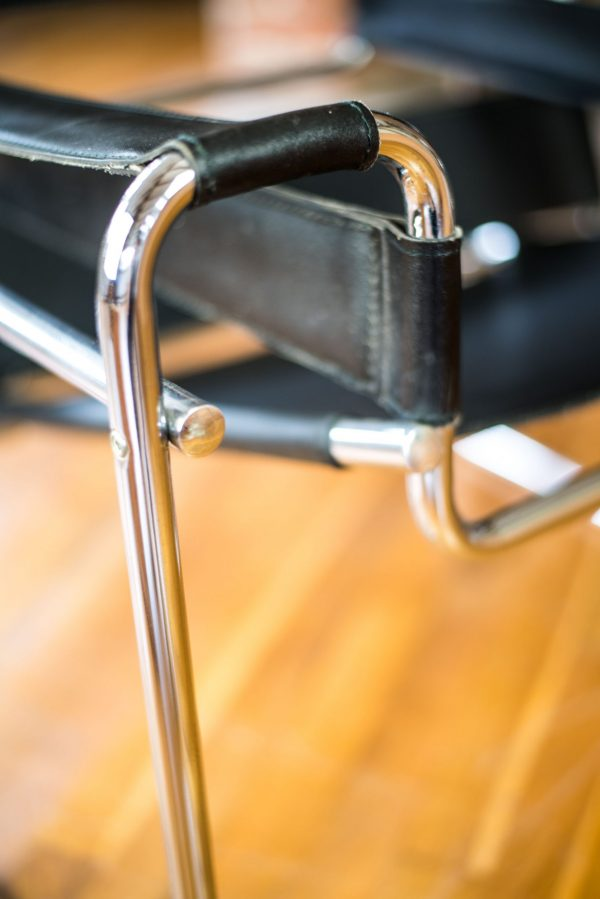 Wassily Chair after design by Marcel Breuer close-up