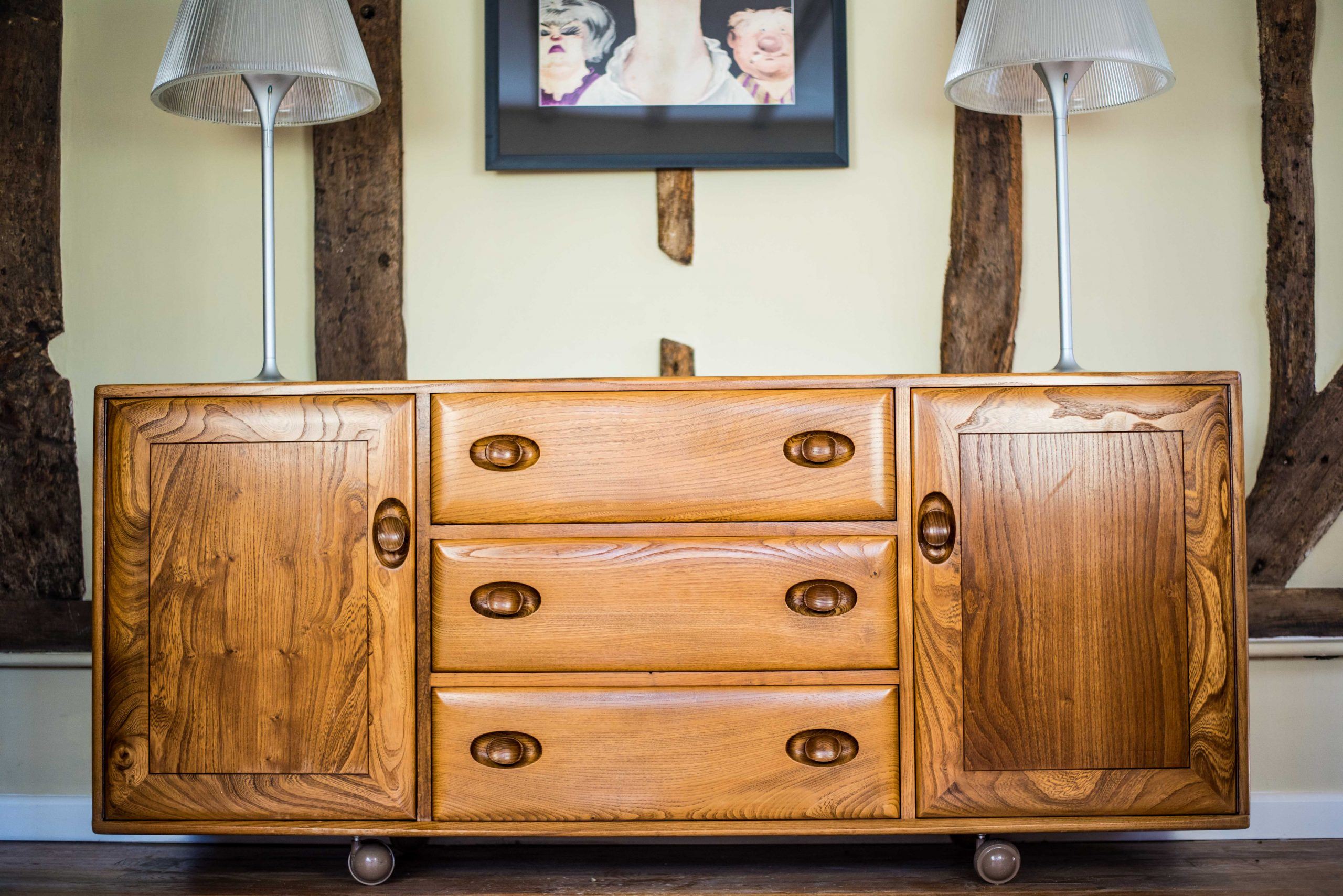 Ercol Furniture: Blonde Sideboard front closed