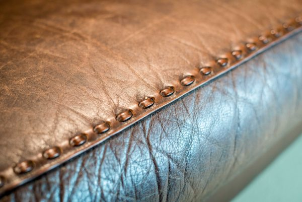 Danish Brown Leather Couch 8