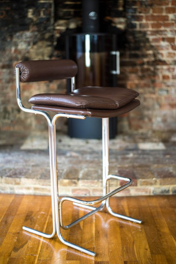 Pieff Eleganza Brown Leather Bar Stools 13