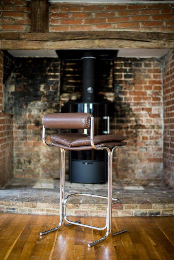 Pieff Eleganza Brown Leather Bar Stools 6