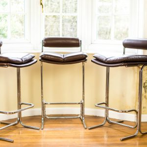 Pieff Eleganza Brown Leather Bar Stools 2