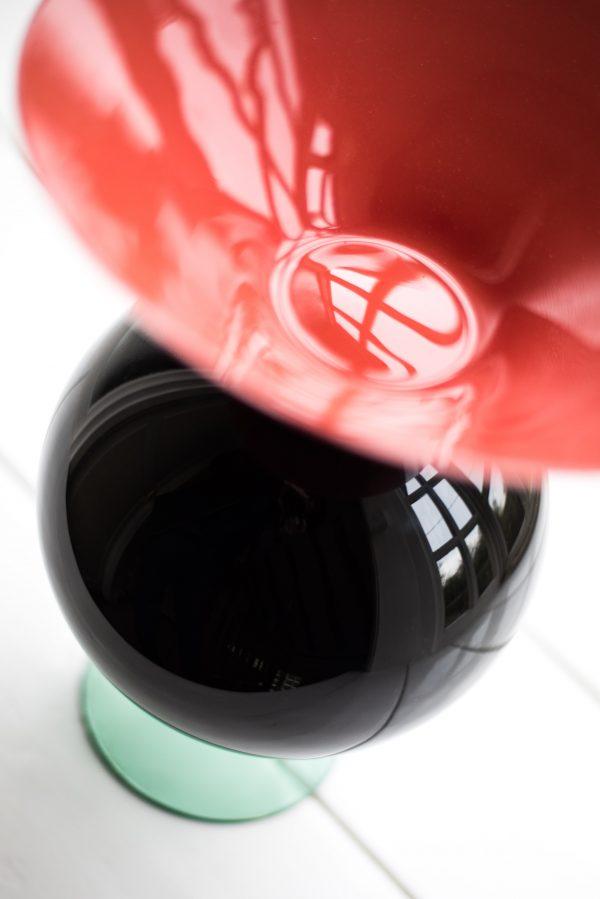 Ettore Sottsass Yeman Vase by Venini Italy top side