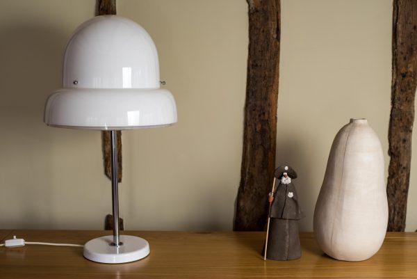Bergboms B-125 Perspex and Chrome Table Lamp 7