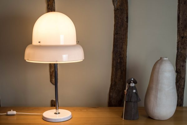 Bergboms B-125 Perspex and Chrome Table Lamp 6