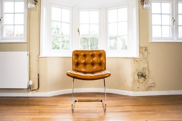 Italian Tan Leather Dining Chairs front