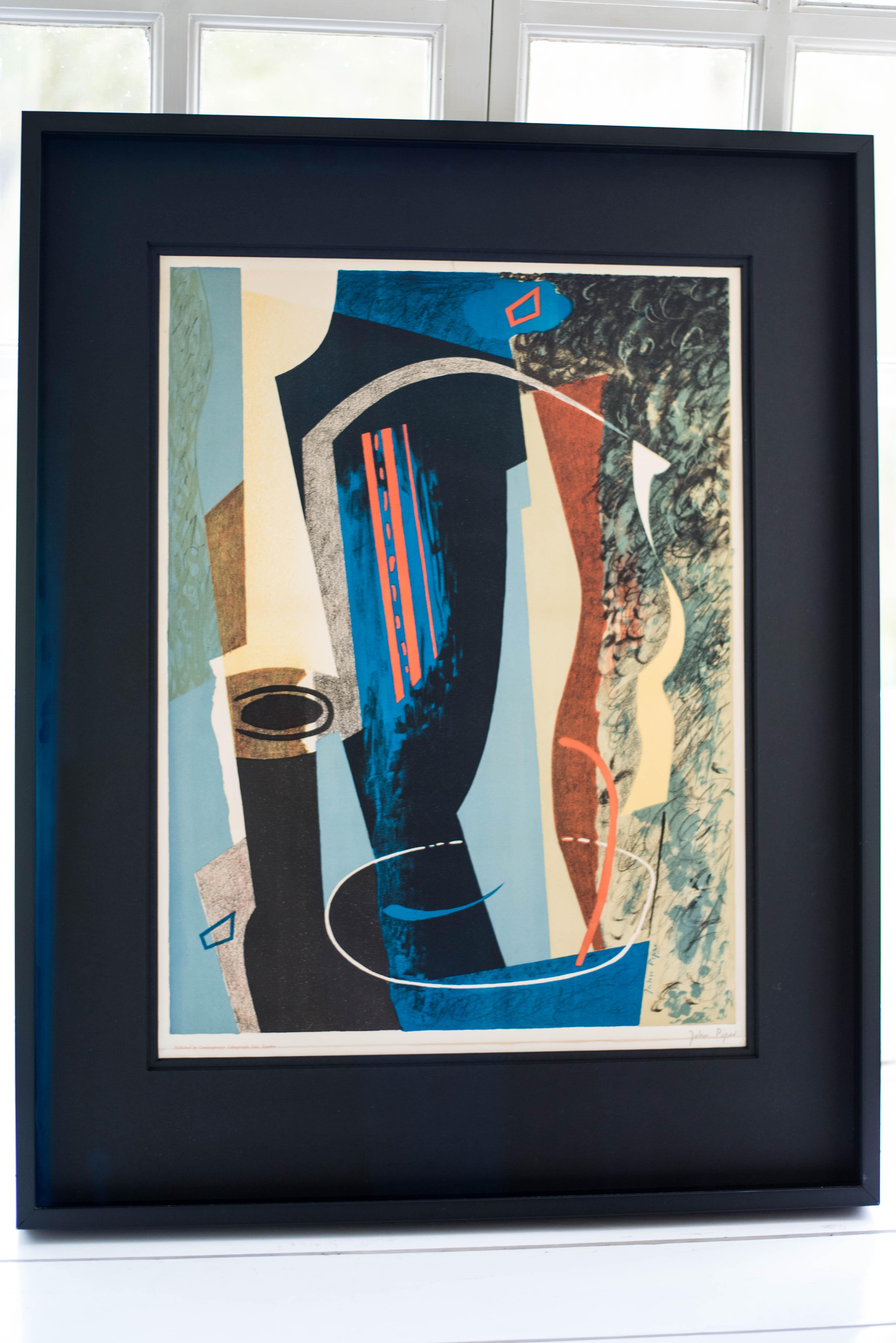 John Piper - Abstract Composition - Colour Lithograph 1