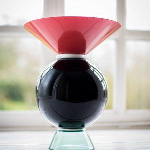 Ettore Sottsass Yeman Vase by Venini Italy front
