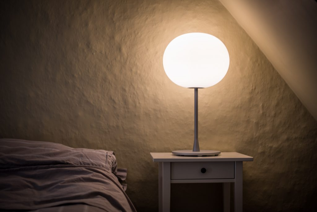 Glo-ball Table Lamp by Jasper Morrison for FLOS lighting