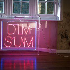 Dim Sum Neon Clear Lucite Advertising Box 6