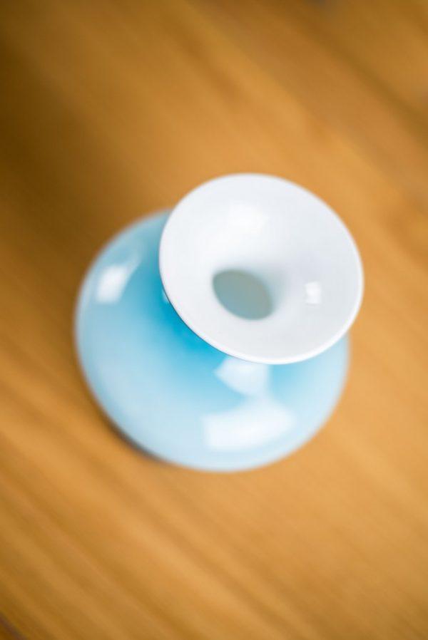 Holmegaard Cased Blue Bulge Glass Vase Carnaby Range Per Lutken 7
