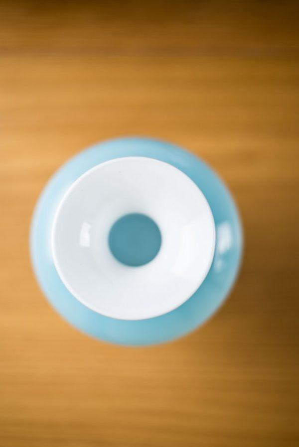 Holmegaard Cased Blue Bulge Glass Vase Carnaby Range Per Lutken 5