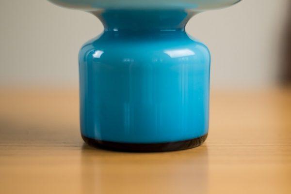Holmegaard Cased Blue Bulge Glass Vase Carnaby Range Per Lutken 4