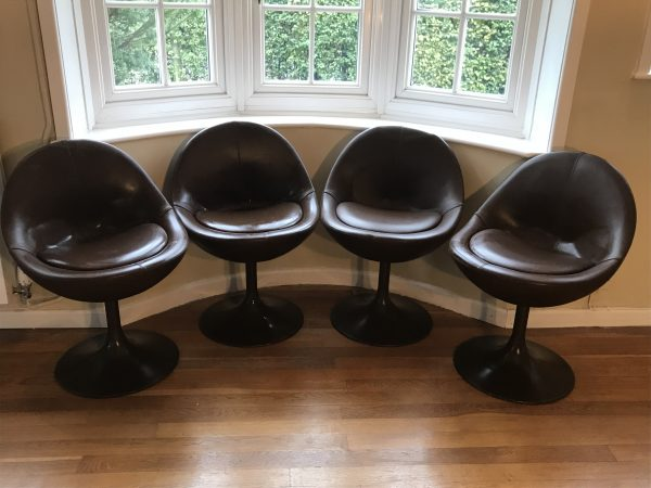 60s Scandanavian Furniture: Set of 4 Börje Johanson Venus Chairs