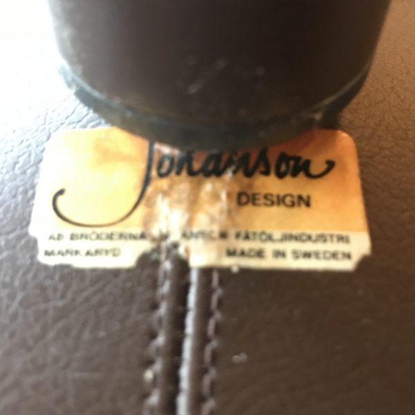 60s Scandanavian Furniture: Börje Johanson Venus Chairs with Label