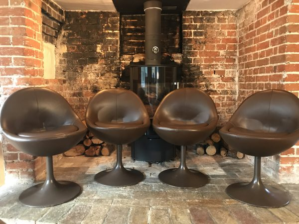 60s Scandanavian Furniture: Börje Johanson Venus Dining Chairs set of 4