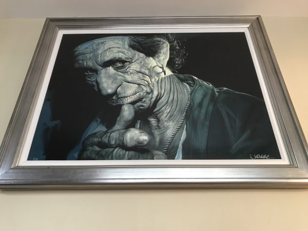 Keith Richards Portrait by Artist Sebastian Kruger